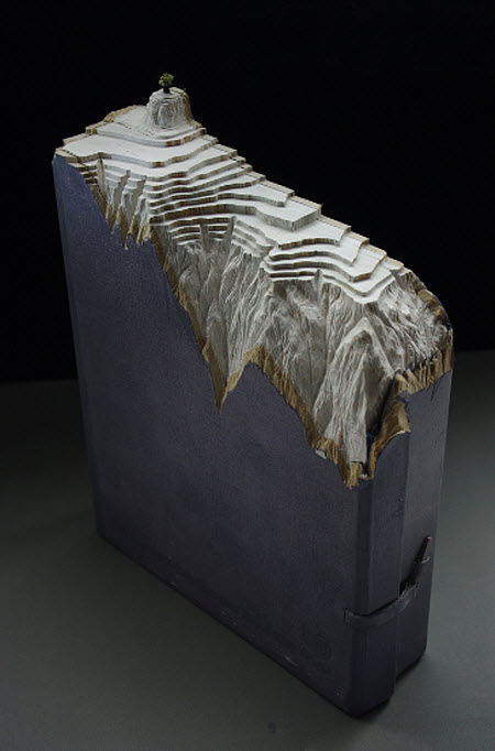 Guy Laramee Transforms Books Into Landscapes 2