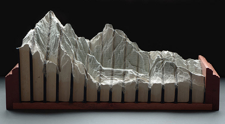 Guy Laramee Transforms Books Into Landscapes 4