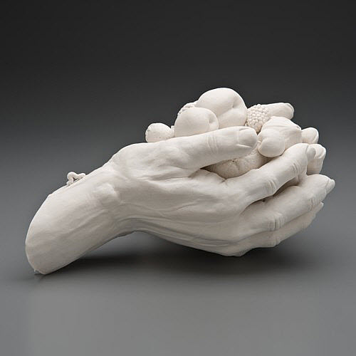 Kate MacDowell porcelain goblin_side