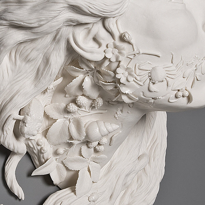 Kate MacDowell porcelain invasive flora_detail