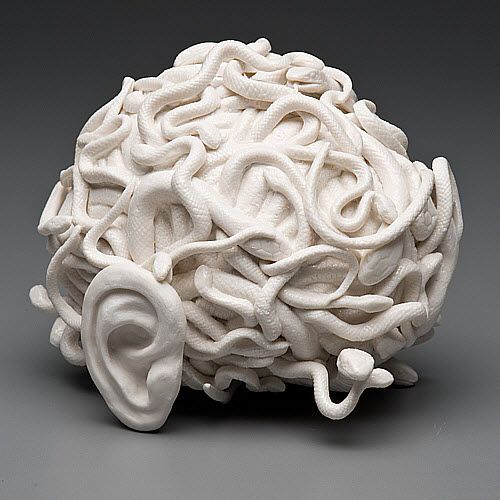 Kate MacDowell porcelain serpentine