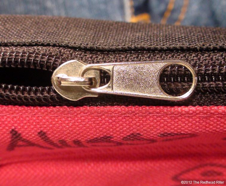 pencil case sturdy black zipper