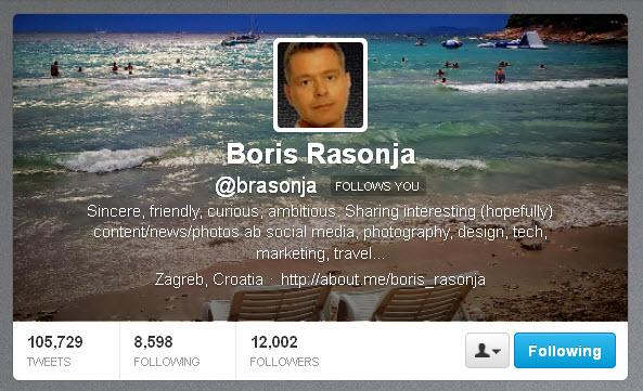 Boris Rasonja @brasonja Twitter header