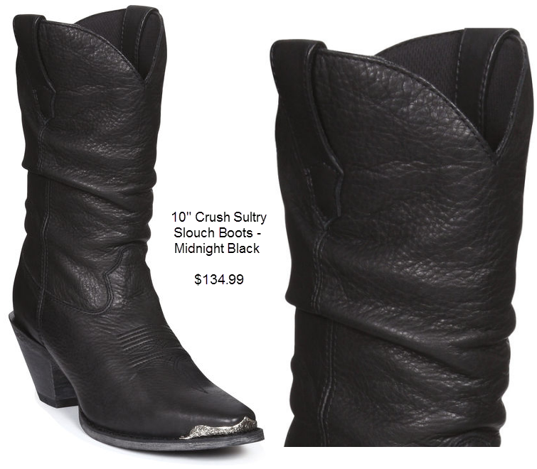 Crush Sultry Slouch Boots - Midnight Black
