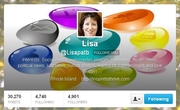Lisa @Lisapatb Twitter header