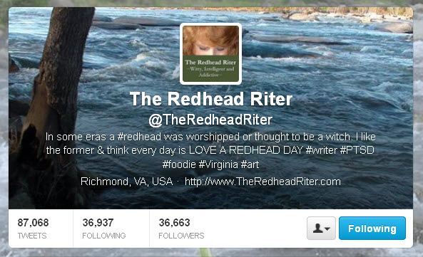 The Redhead Riter Twitter header