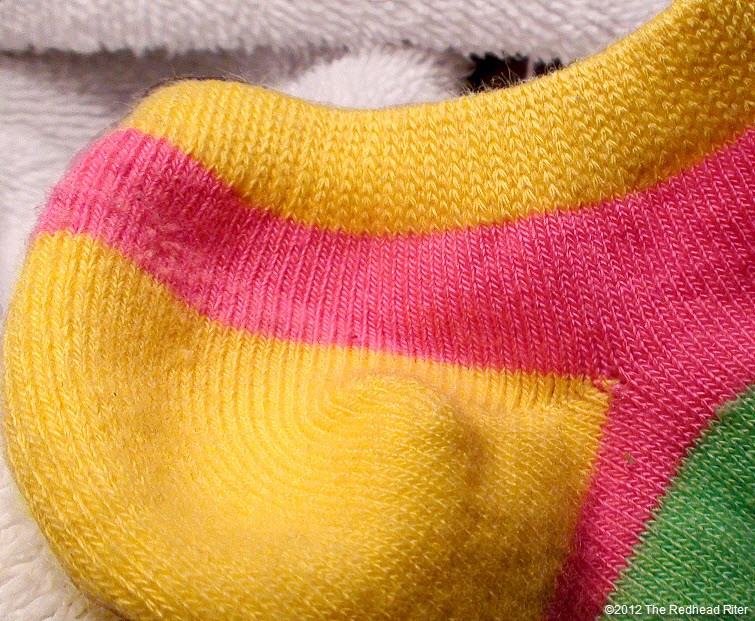 bright colorful short footie sock
