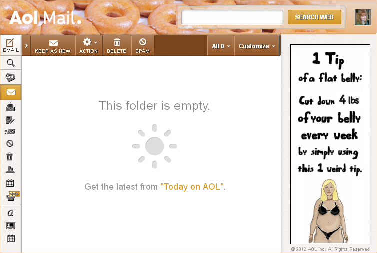 email doughnuts header diet ad