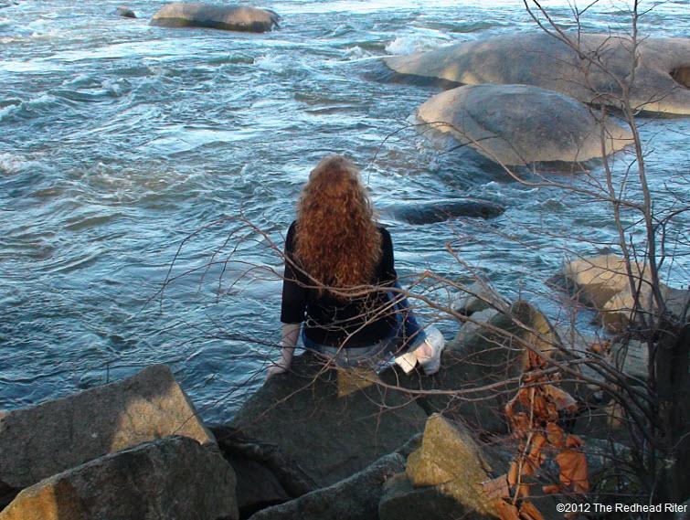 redhead rushing james river richmond virginia 2