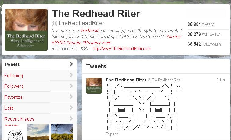 twitter profile image showing tweets