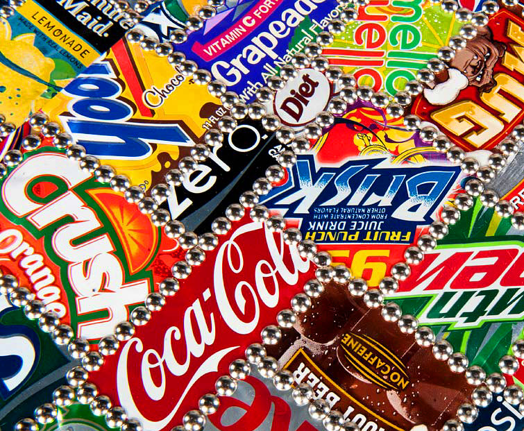 Soda Cans Table BRC Designs