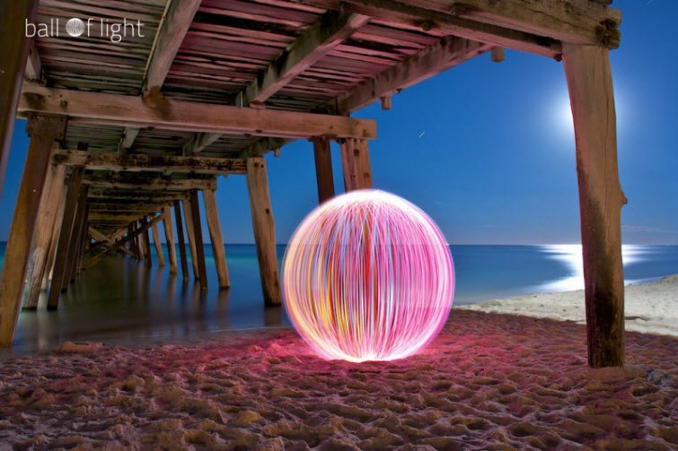 denis smith ball of light pink pier