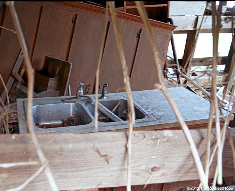old farm double steel sink