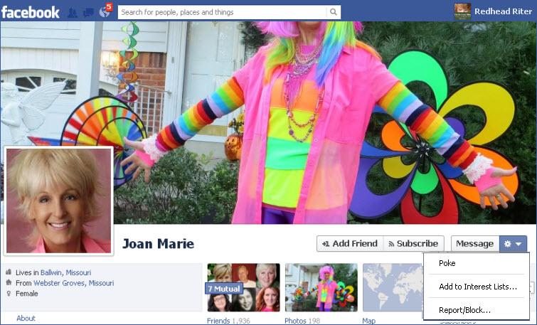 Facebook poke as a re-poke