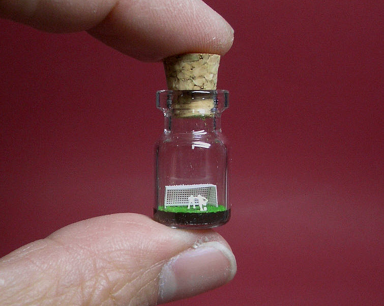 Football Soccer in a tiny bottle