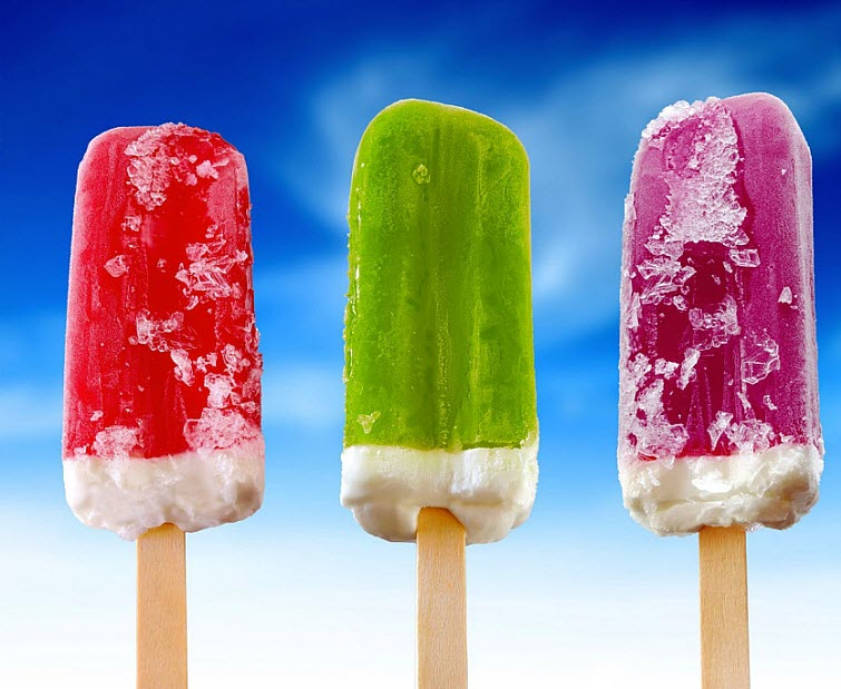 Popsicles Cherry Lime Grape Ice Cream