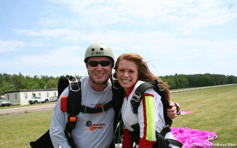redheaded niece brittany skydiving instructor