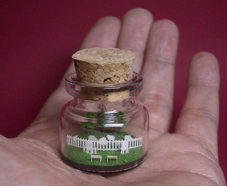 Sheep in a tiny bottle