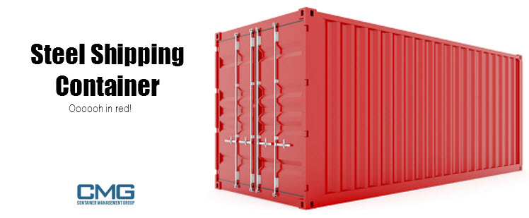 steel shipping container red container home