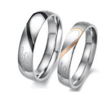 wedding bands his hers silver