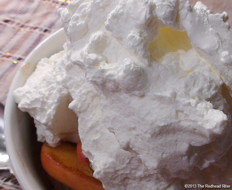 whipped cream warm organic apples