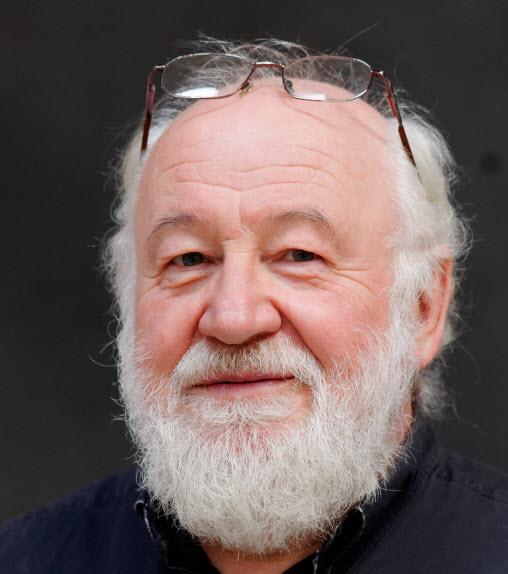 white hair beard older man