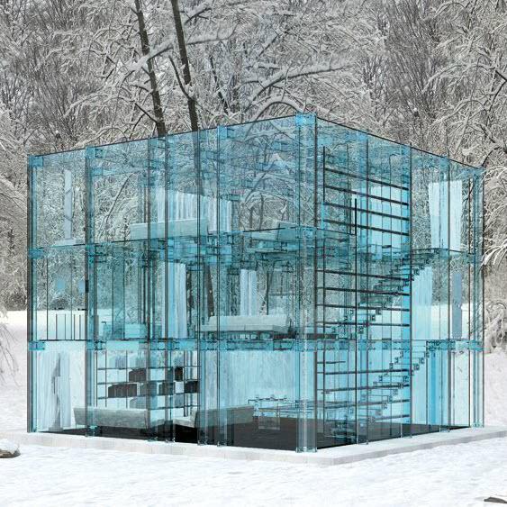 Glass House Designed Carlo Santambrogio