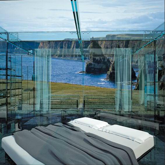 Glass House Glass Bed Arosio & Santambrogio