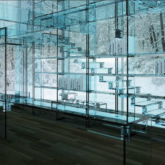 Glass House Glass Stairs Santambrogio