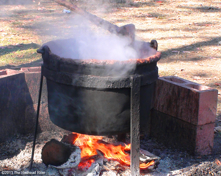 Graves' Mountain apple butter pot fire