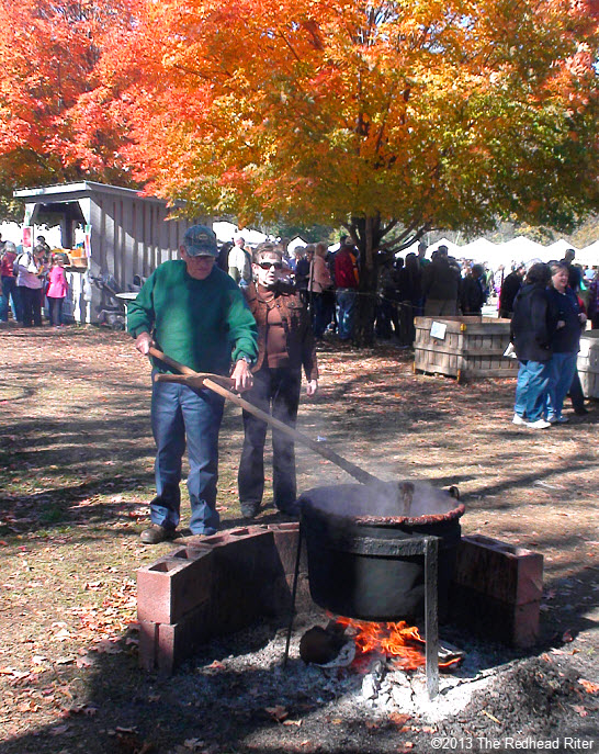 apple butter cooking at apple festival