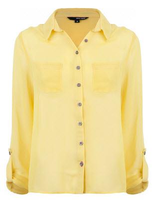 the long sleeve yellow shirt