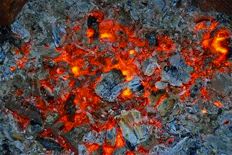 burned out fire ashes love