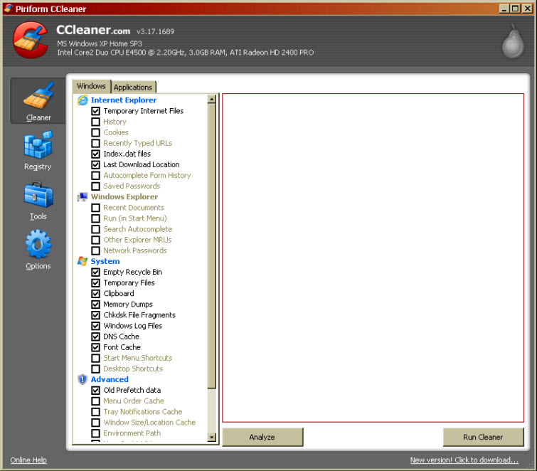 ccleaner for windows or mac