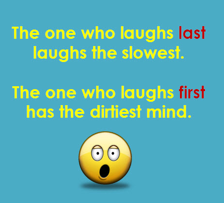 laugh first last
