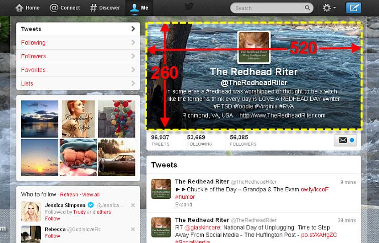 twitter header size 520 x 260