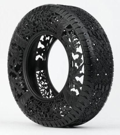 engraved rubber tires Wim Delvoye 2