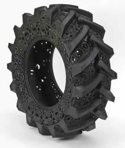 engraved rubber tires Wim Delvoye 4