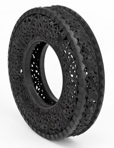 engraved rubber tires Wim Delvoye 6