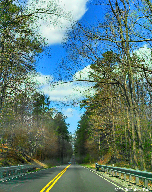 open road blue sky