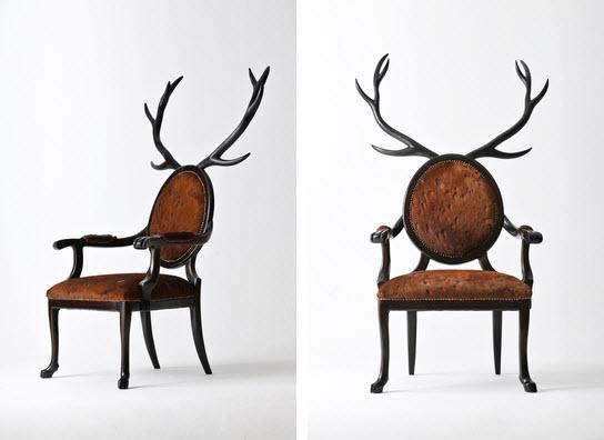 Artist Merve Kahraman Antlers Chair 1