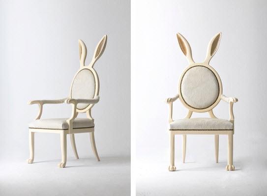 Artist Merve Kahraman bunny ears chair 1