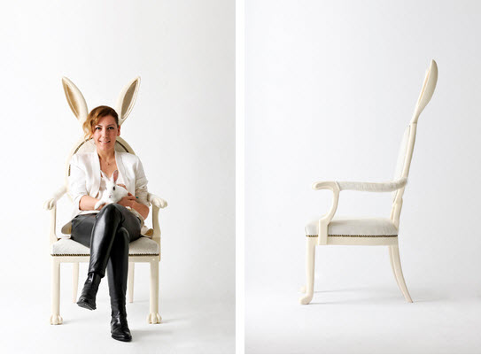 Artist Merve Kahraman bunny ears chair 3
