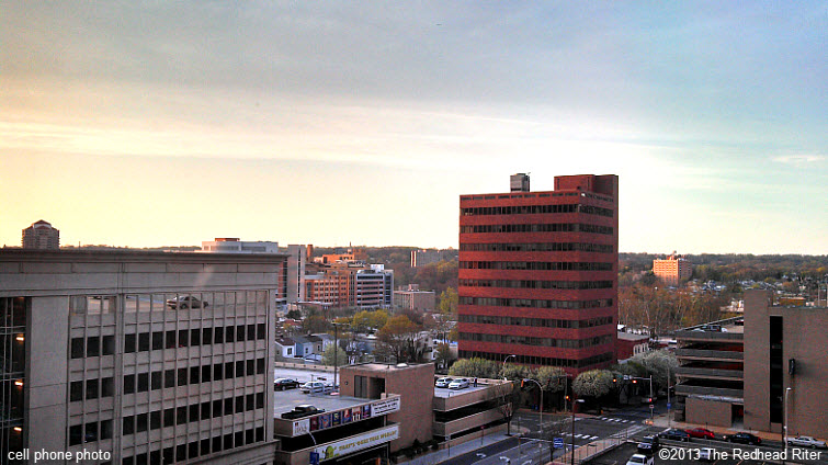 Wilmington Delaware partial skyline sunset