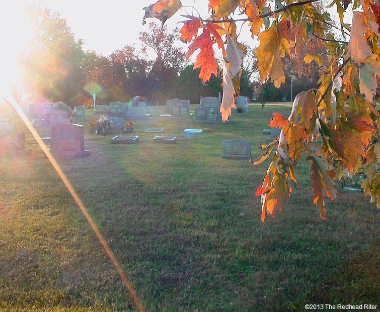 graveyard sunset in fall syria virginia