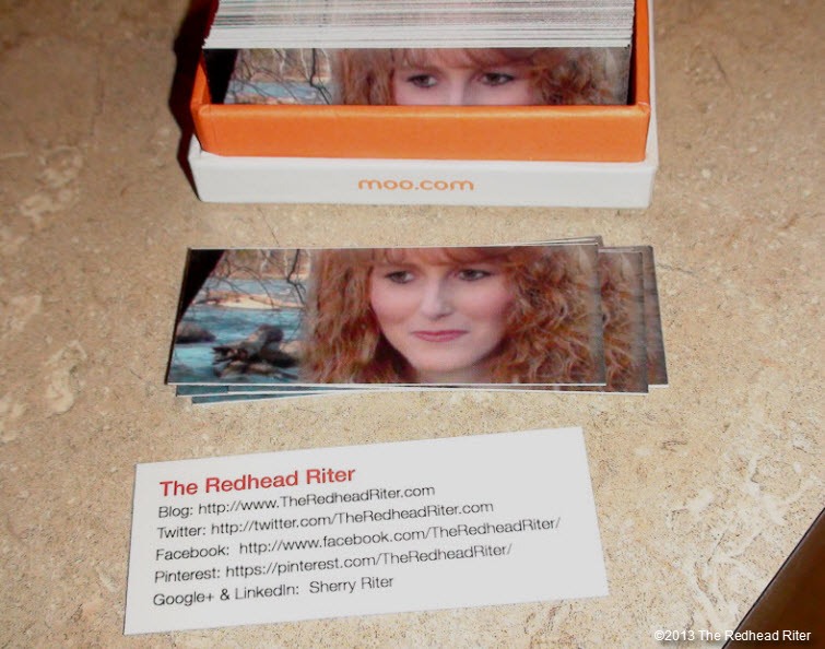 mini moo cards  business cards the redhead riter