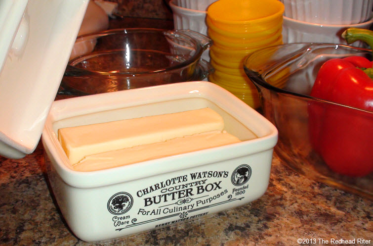 rectangular butter box dish cream