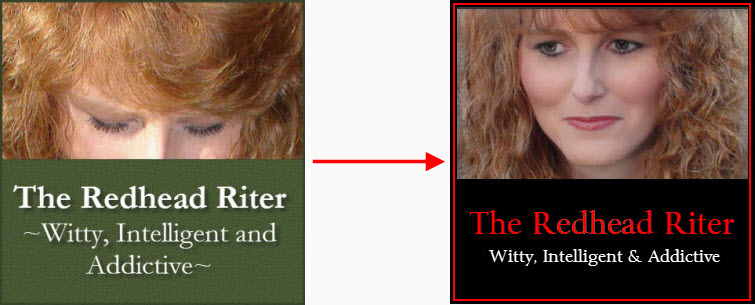 redhead riter avatar looking down to up