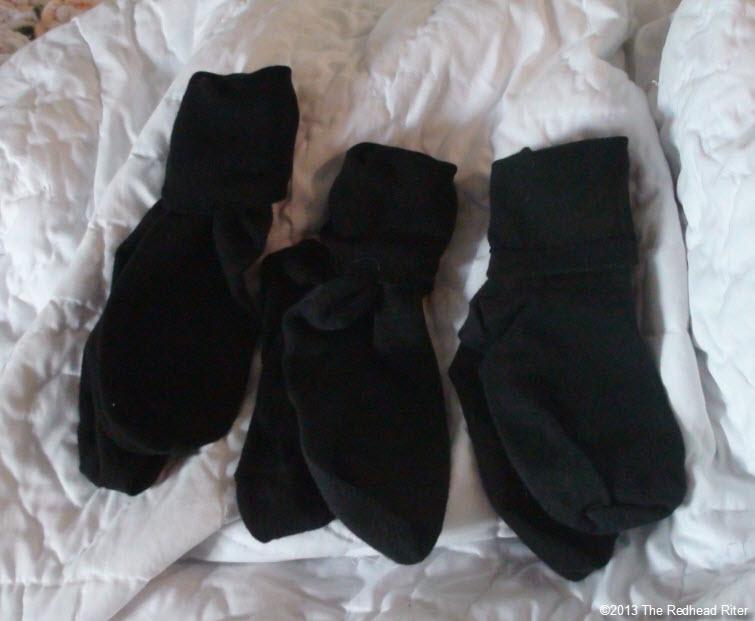 3 pair of black socks