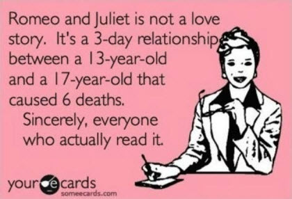 Funny eCards Cute Pictures Romeo Juliet